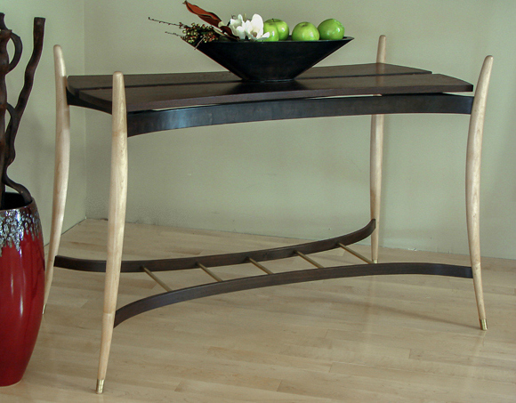 contemporary wenge console table